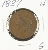 1837 - MATRON HEAD LARGE CENT - G