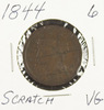 1844 - BRAIDED HAIR LARGE CENT - VG