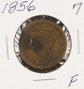 1856 - BRAIDEDHAIR LARGE CENT - F