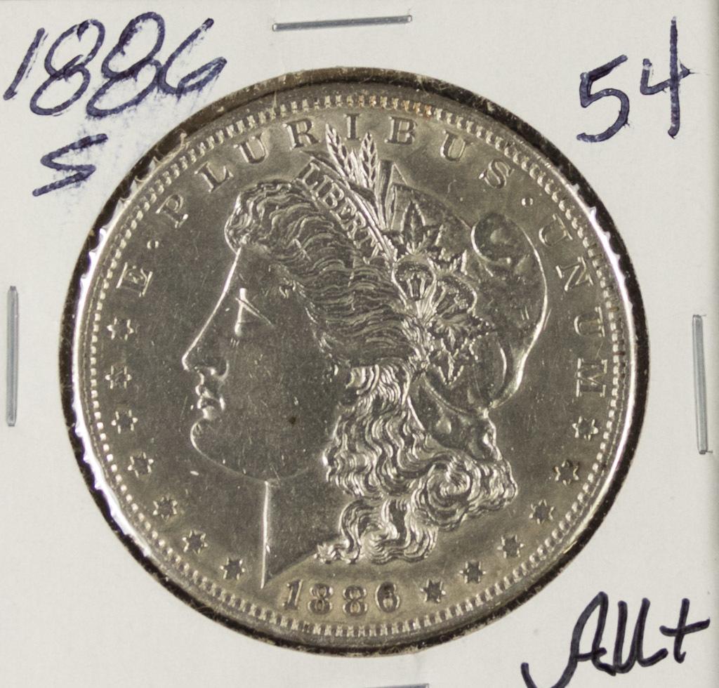 1886-S MORGAN DOLLAR - AU