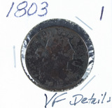 1803 - DRAPED BUST LARGE CENT - VF DETAILS