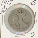1917-S WALKING LIBERTY HALF DOLLAR - G