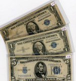 3 NOTE LOT 1935-A & 1957-A ONE DOLLAR SILVER CERTIFICATES