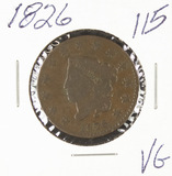 1826 - MATRON HEAD LARGE CENT - VG