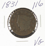 1831 - MATRON HED LARGE CENT - VG