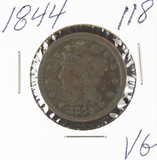 1844- BRAIDED HAIR LARGE CENT - VG