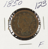 1850- BRAIDED HAIR LARGE CENT - F