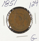 1851- BRAIDED HAIR LARGE CENT - G