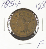 1854- BRAIDED HAIR LARGE CENT - F