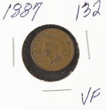 1887 - INDIAN HEAD CENT - VF