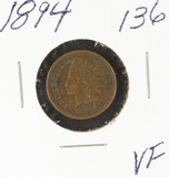 1894  - INDIAN HEAD CENT - VF