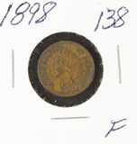 1898 - INDIAN HEAD CENT - F