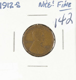 1912-S LINCOLN CENT - F