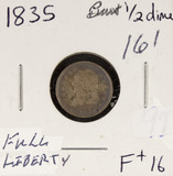 1835 - CAPPED BUST HALF DIME- F