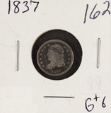 1837 - CAPPED BUST HALF DIME - G