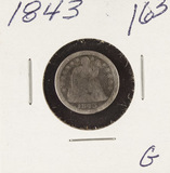 1843 - SEATED LIBERTY DIME - G