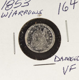 1853 - W/ARROWS SEATED LIBERTY DIME - VF (DAMAGED)