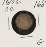 1876-CC SEATED LIBERTY DIME - G