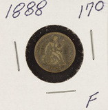1888 - SEATED LIBERTY DIME - F