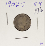 LOT OF 2 - 1902-G & 1902-S G BARBER DIMES