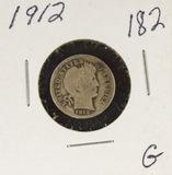 1912 - BARBER DIME - G