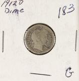 1912-D BARBER DIME - G