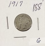 2-COIN LOT 1916-VG & 1917-G MERCURY DIMES