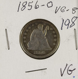1856-O SEATED LIBERTY QUARTER - VG