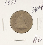 1877 - SEATED LIBERTY QUARTER - AG