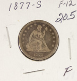 1877-S SEATED LIBERTY QUARTER - F