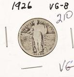 1926 - STANDING LIBERTY QUARTER - VG