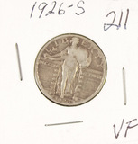 1926-S STANDING LIBERTY QUARTER - VF