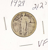 1927 - STANDING LIBERTY QUARTER - VF