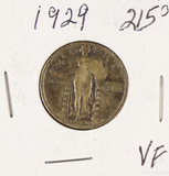 1929 - STABDING LIBERTY QUARTER - VF