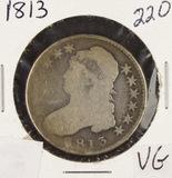 1813 - CAPPED BUST HALF DOLLAR - VG