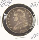 1834 - CAPPED BUST HALF DOLLAR - VF