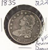 1835 - CAPPED BUST HALF DOLLAR -VF