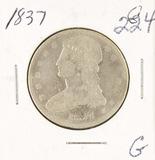 1837 - CAPPED BUST HALF DOLLAR - G