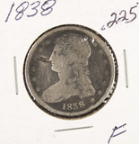 1838 - CAPPED BUST HALF DOLLAR - F