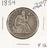 1854 - SEATED LIBERTY HALF DOLLAR - F