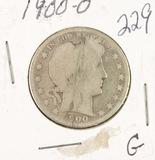 1900-O BARBER HALF DOLLAR - G