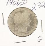 1906-D BARBER HALF DOLLAR - G