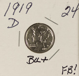 1919-D MERCURY DIME BU FULL BANDS