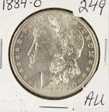 1884-O  MORGAN DOLLAR - AU