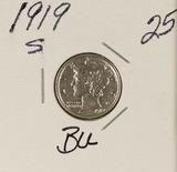 1919-S MERCURY DIME - BU