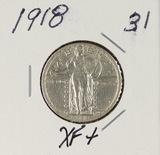 1918  - STANDING LIBERTY QUARTER - XF