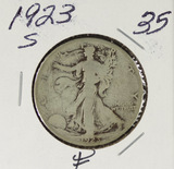 1923-S WALKING LIBERTY HALF DOLLAR - F