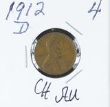 1912-D LINCOLN CENT - AU