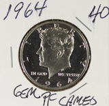 1964 - CAMEO PROOF KENNEDY HALF DOLLAR - GEM