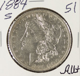 1884-S MORGAN DOLLAR - AU